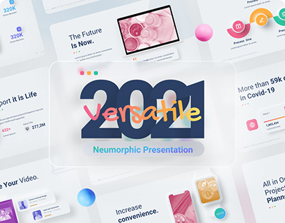 Free 2021 Neumorphic Design for PowerPoint