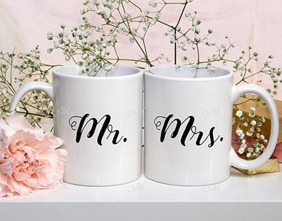 Wedding Mugs Mock-up