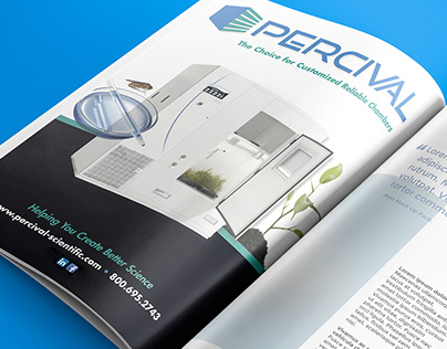 Percival Scientific Branding & Print Design Campaign