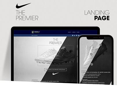 Nike TIEMPO The Premier Landing Page