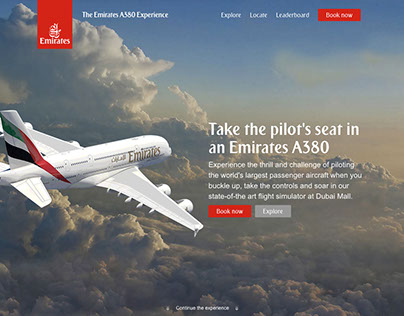 Emirates A380 Experience Website