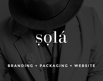 ṣọla: Branding + Packaging + Website
