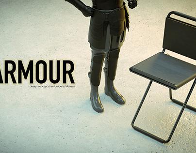 ARMOUR CHAIR - (Armour Knight by Soidev CC Attribution)