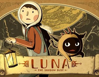 Website Design for Kickstarter: LUNA - The Shadow Dust