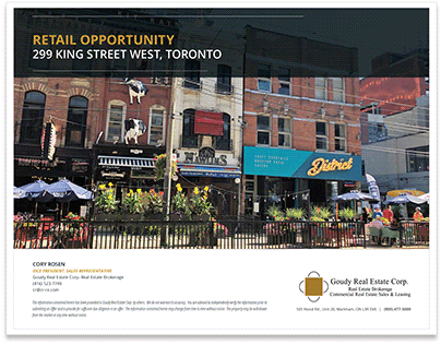 299 King Street - Retail Brochure