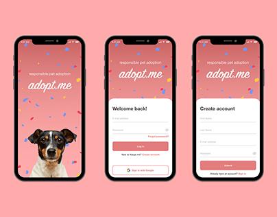 Daily UI 001 | Pet Adoption App Login