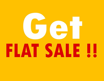 Flat Sale Text Animation