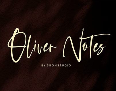 Oliver Notes - Handwritten Font