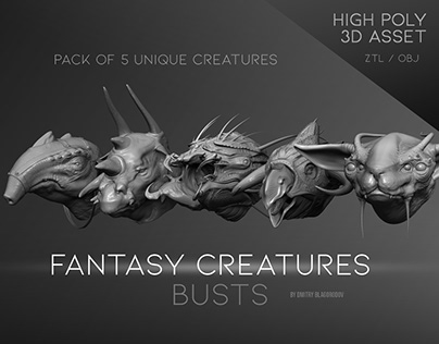 """""""Fantasy Creatures"""" busts"""