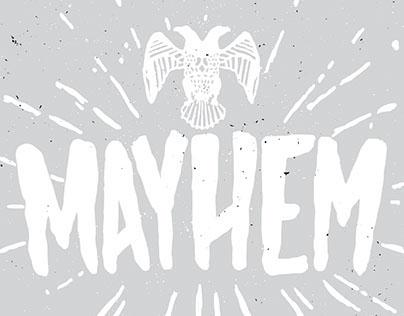 MAYHEM - HAND DRAWN FONT