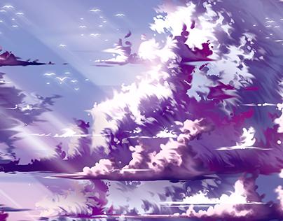 Clouds Landscape - Digital Illustration