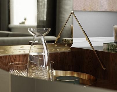 Studo Ilse Brass Cabinet