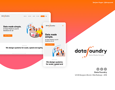 Data Foundry - Web + UX/UI Design