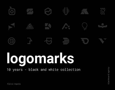 logomarks - black and white - 10 years collections