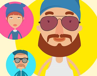 Cute Cartoon People – Mega Collection Freebie