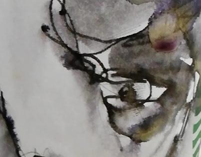 illustration on starbucks paperboard