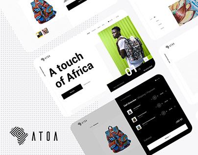 Atoa - Branding, Web & Mobile App