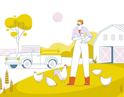 Farming | Vector illustrations