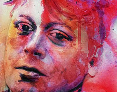 Adrian Borland - Fan art watercolor