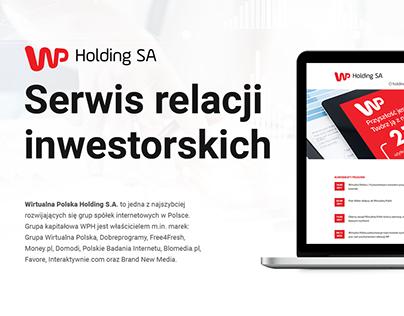 Serwis Relacji Inwestorskich dla WP Holding