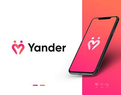 Dating App Icon Design   Heart+Y+Couple