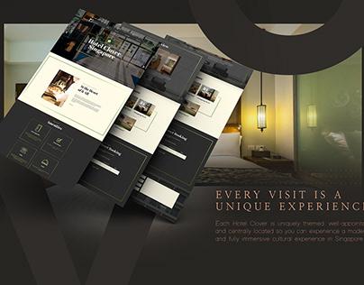 WEB DESIGN LAYOUT HOTEL CLOVER SINGAPORE