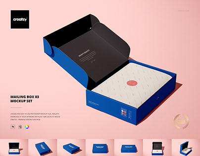Mailing Box Mockup Set 03