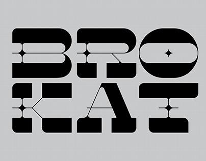 BROKAT — Free font.