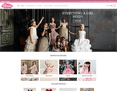Pakistani Kidsh shop, eCommerce online Store design