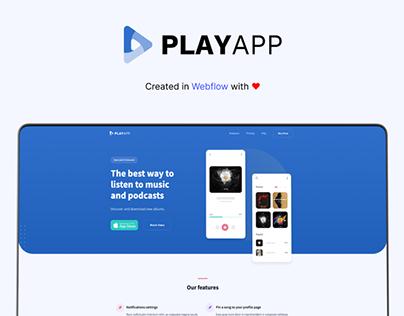 PlayApp - Webflow HTML website template
