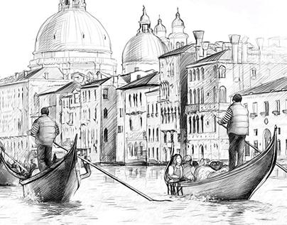 Italy. Illustration.