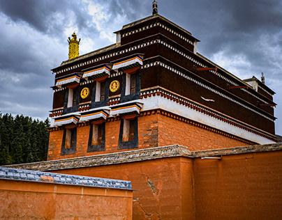 Labrang Monastery . Xiahe . Gansu . China