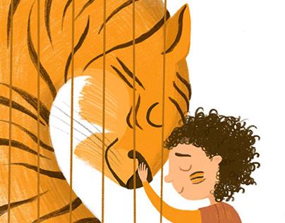 "Illustrations for children's book ""Delilah is a tiger"""