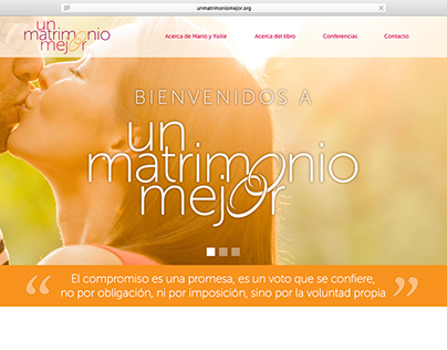 Branding, editorial, web de Un matrimonio mejor