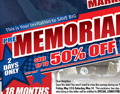 Memorial Day Direct Mail Letter Template