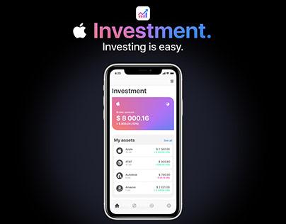 Apple Investment App Concept