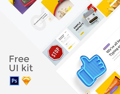 Free UI Kit | Landing