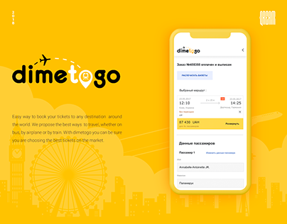 Dimetogo - ticket booking platform UI/UX