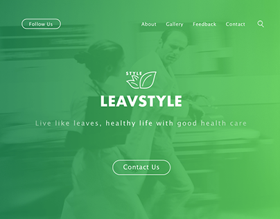 【Web design】-fitness-LEAVESTYLE-brand website