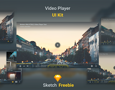 Daily UI #057 -Video Player - free Sketch