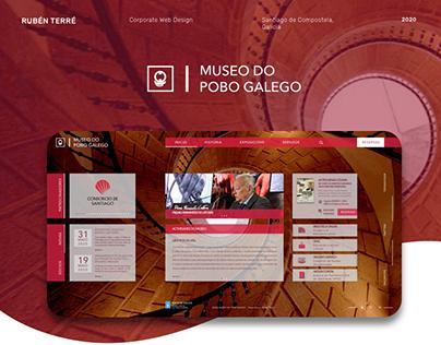 Museo do Pobo Galego - Web Design Concept