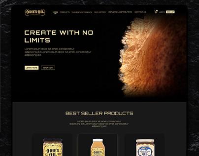 Oil Company Website Landing Page Design