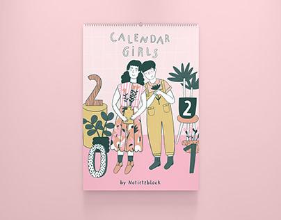 Calendar Girls 2021 - Illustrated Wall Calendar
