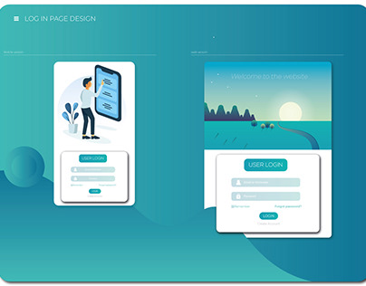 mobile and web login page design template