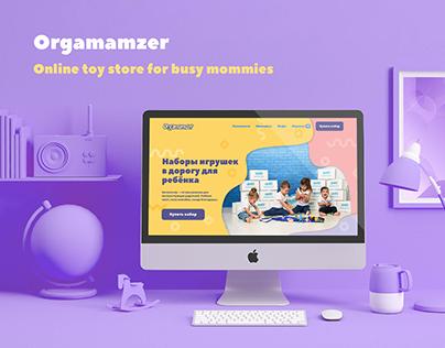 Orgamamzer: online toy store
