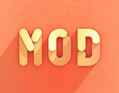 Experimental 3D Modular Font