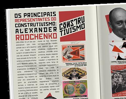 Diagramação de revista - Construtivismo Russo