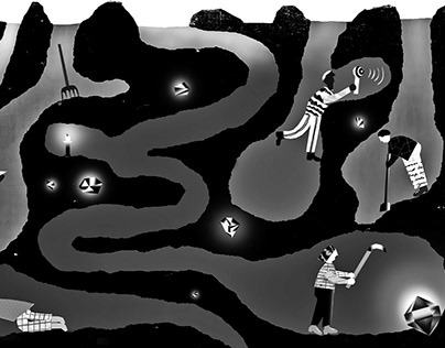 Editorial illustration for NYT Open section