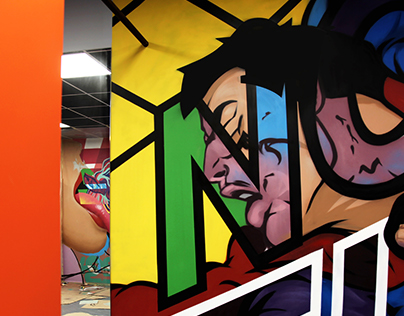 FIGHT interior mural by #zdesroy