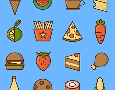 Food icons / mini pack